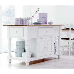 Køkken-konsolbord m. hylder, skuffer og skabe -  NC9001