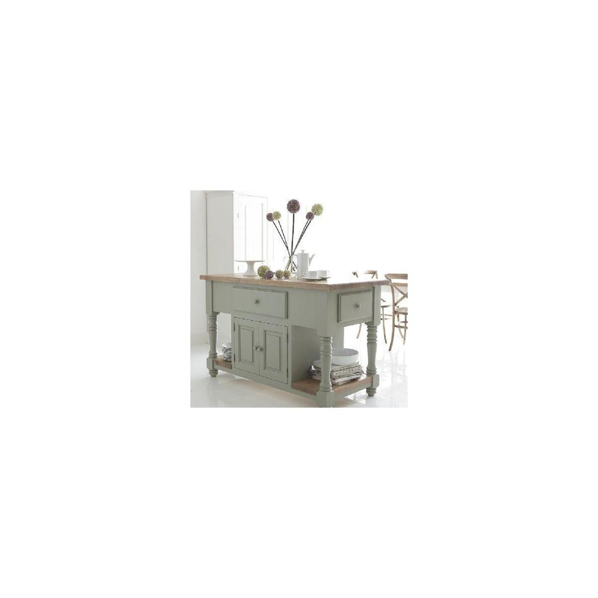 Køkken konsolbord med hylder og skuffer. køb det online hos brandi ...