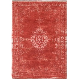 Vintage gulvtæppe Red - white